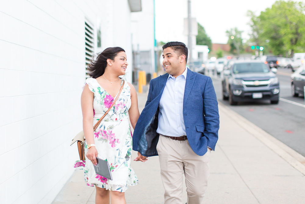 Walking down the street by Union Market | Candid DC Photographer