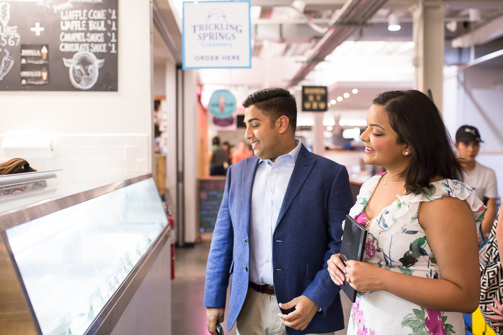 Picking out ice cream at Trickling Springs Creamery | Union Market Ice Cream
