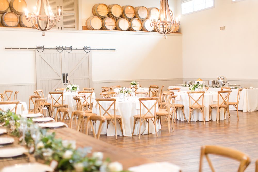 Beautiful wedding reception round tables at King Family Vineyards | Crozet Wedding Reception Venues