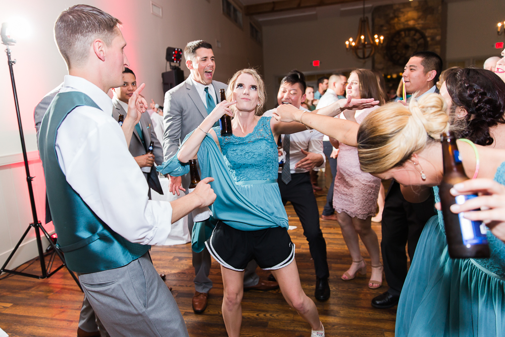Wedding party getting wild and crazy on the dance floor | Music by Guyton Mobile DJ