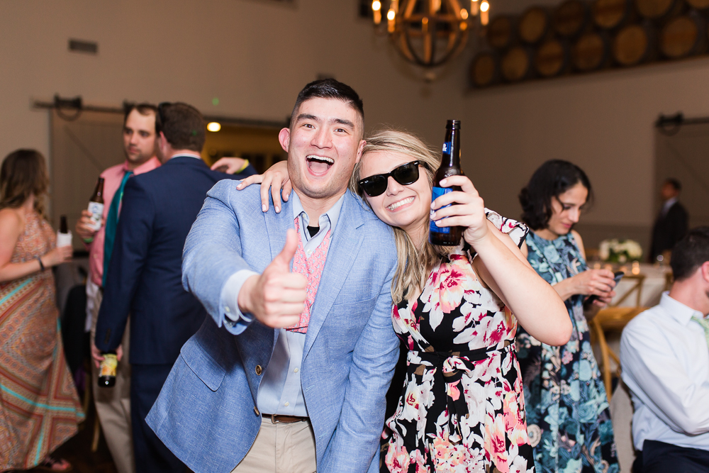 Wedding guests having fun during the reception | Fun wedding photography in Crozet, VA