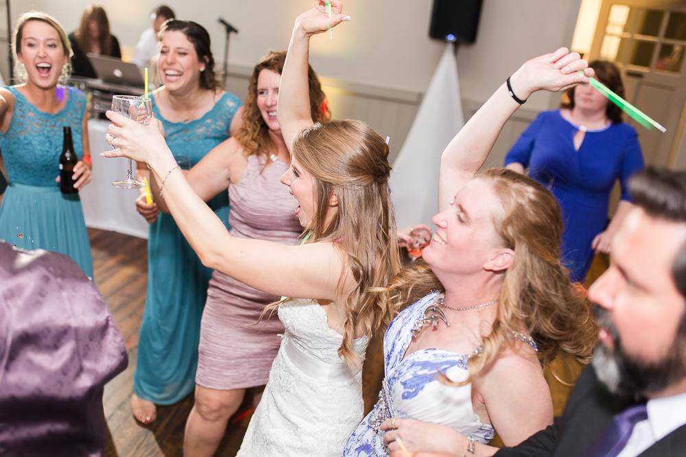 Having fun on the dance floor thanks to Guyton Mobile DJ | Best Crozet Wedding DJ