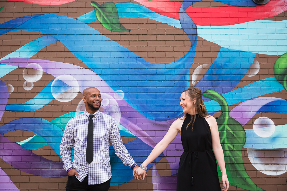 Colorful DC mural engagement photo | Colorful DC Photographer