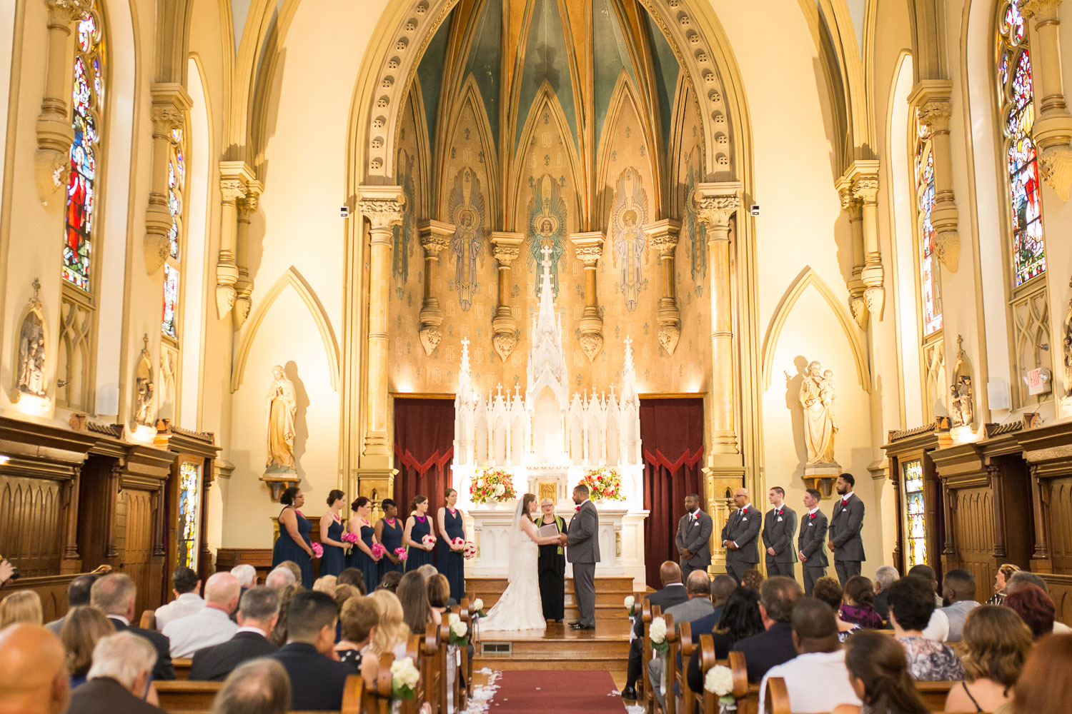 Wedding ceremony at Chapel Hill