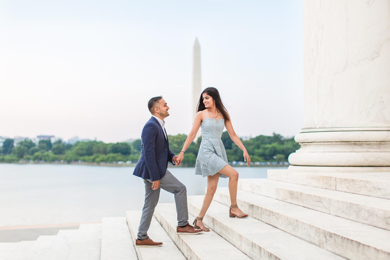 Jefferson Memorial engagement pictures