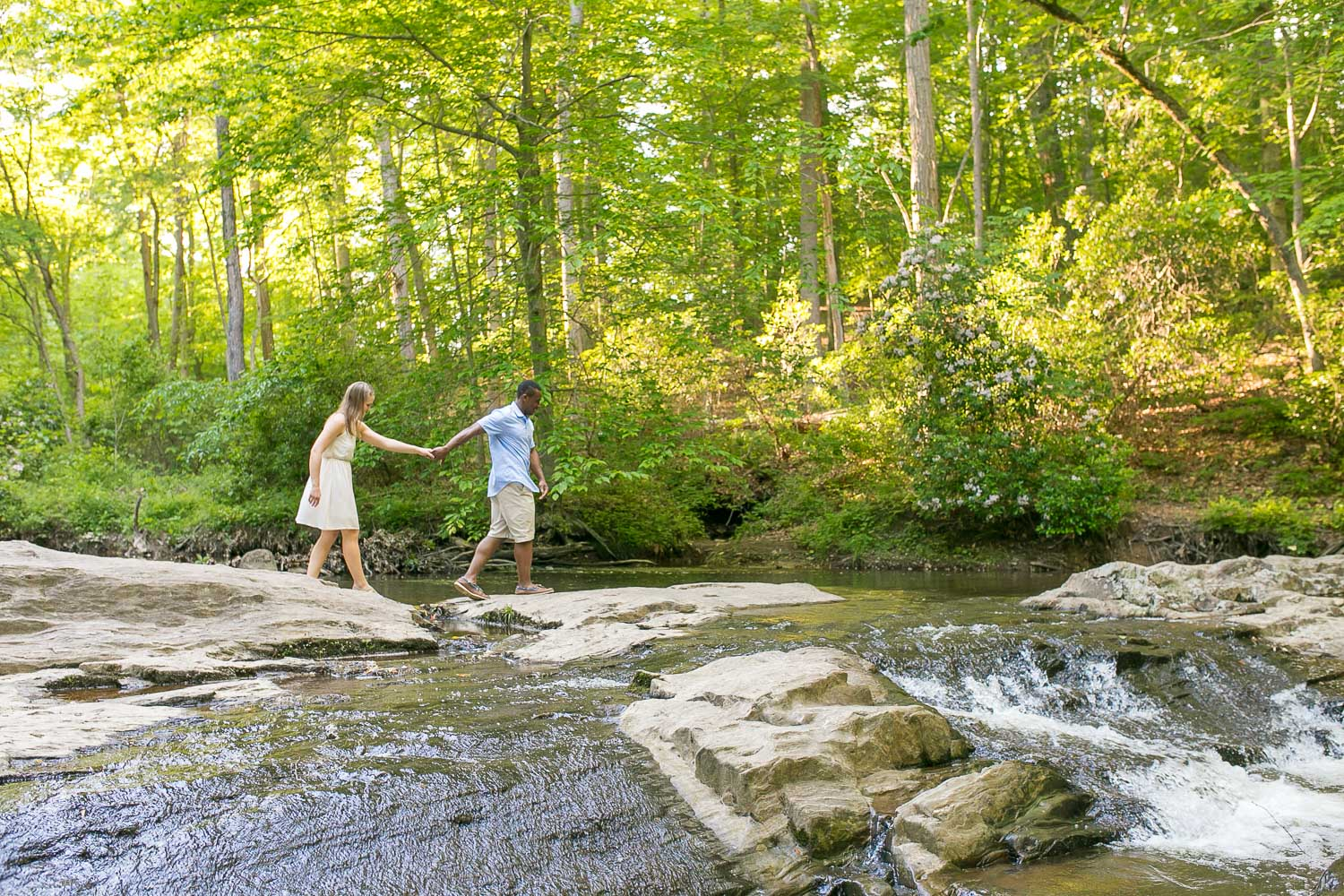 Northern Virginia hiking engagement pictures