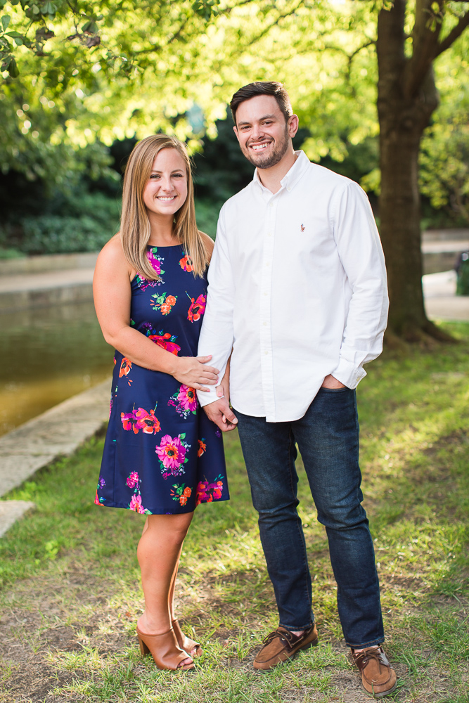 Beautiful summer engagement session on the Richmond Canal Walk