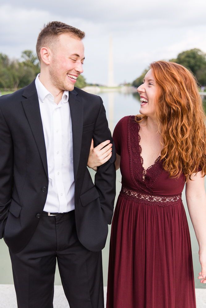 Candid engagement photography in Washington, DC | Megan Rei Photography