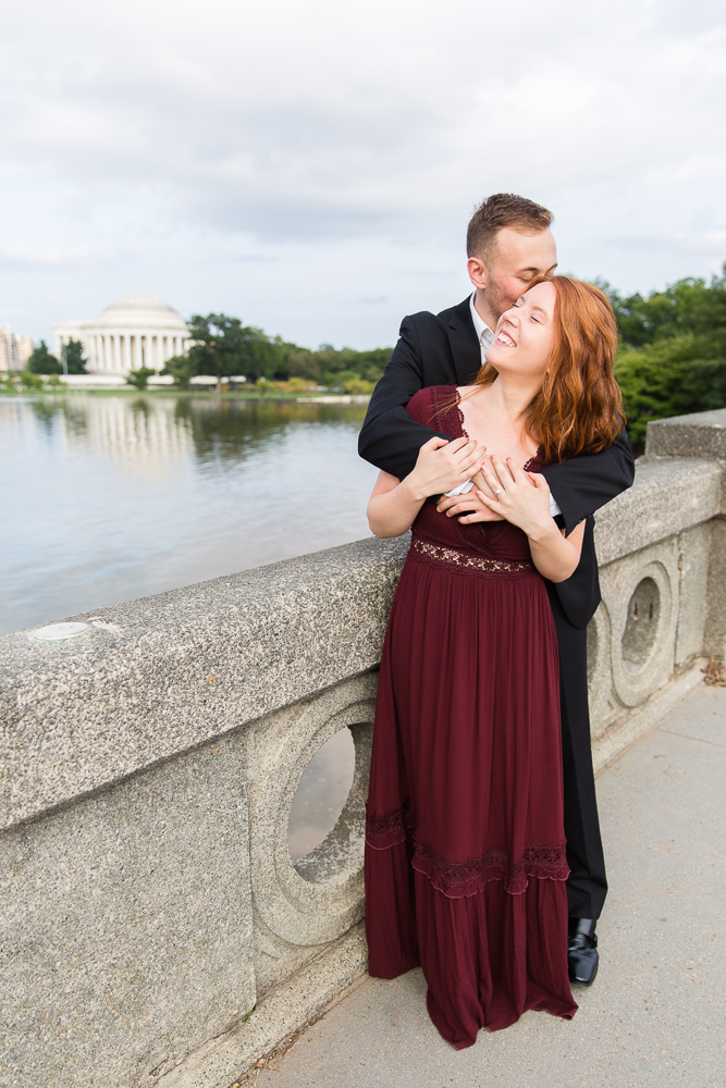 Jefferson Memorial and Tidal Basin candid engagement picture