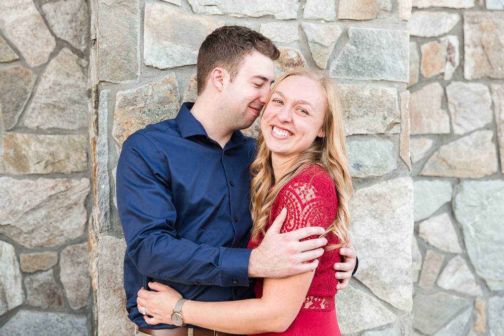 Happy engaged couple in Delaplane, Virginia