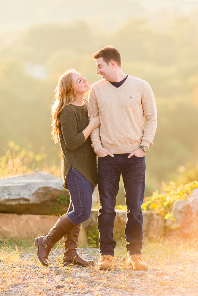 Fall winery engagement session in Delaplane, VA
