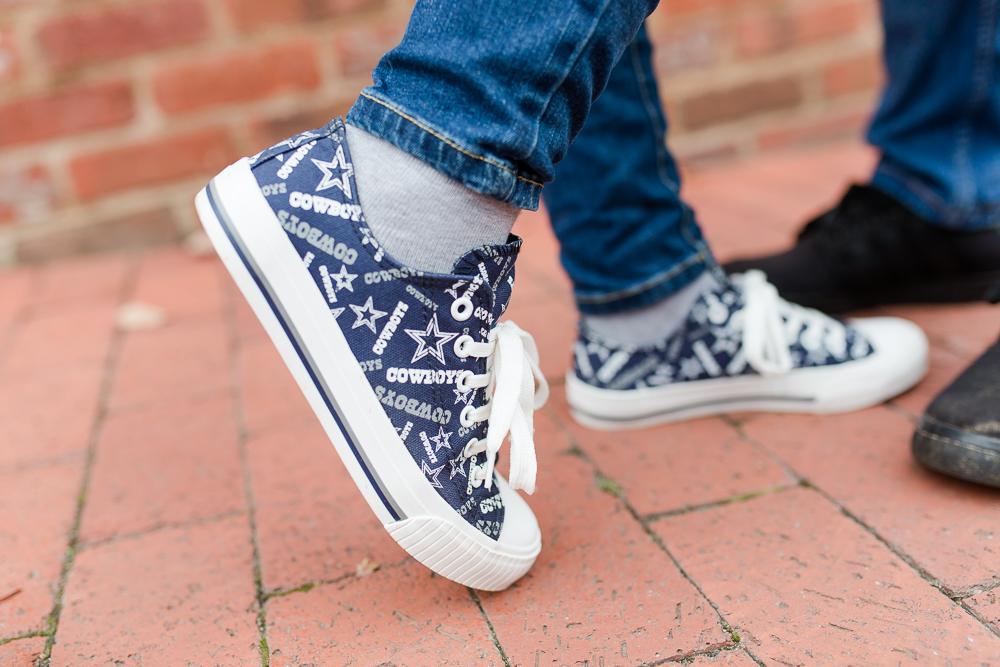 Dallas Cowboys sneakers for super fans engagement pictures