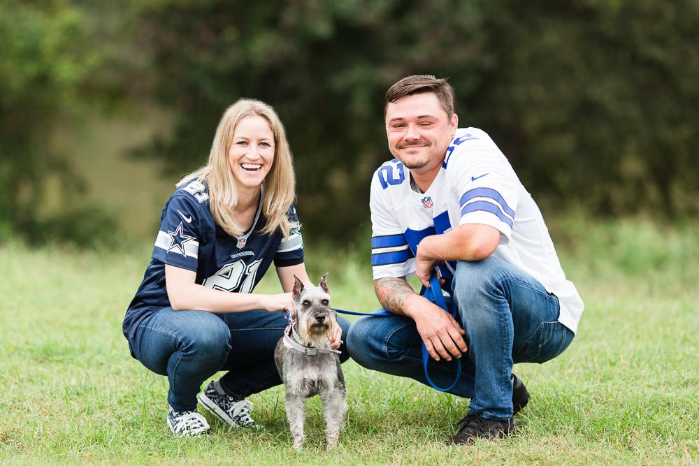 Dallas Cowboys engagement session in Fredericksburg, Virginia