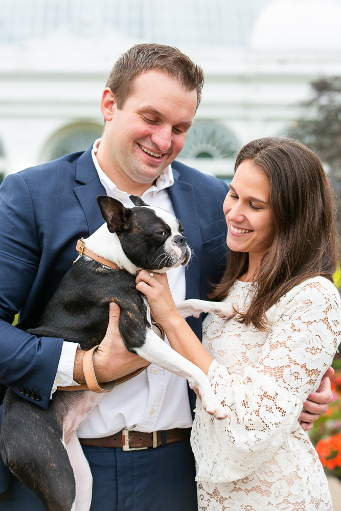 Happy couple with their dog