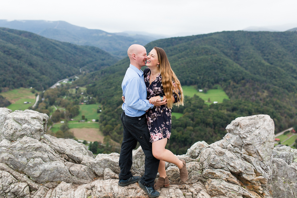 Candid engagement photography in Northern Virginia for couples that love adventure