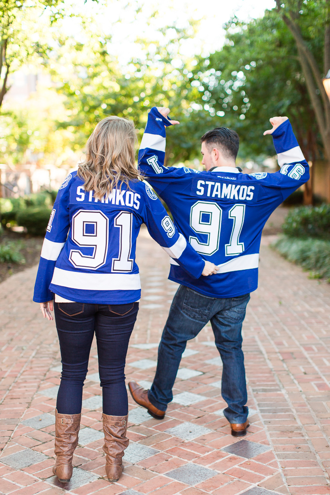Engagement pictures for hockey fans