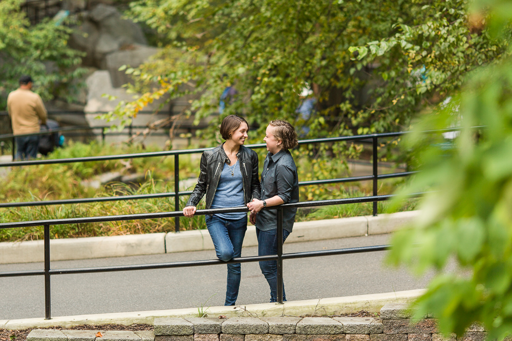 Fun engagement pictures at the Smithsonian National Zoo in Washington, DC