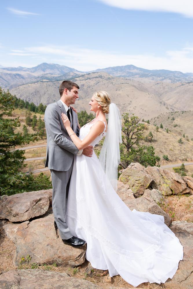 Wedding portraits on top of Lookout Mountain | Golden, CO wedding photographer