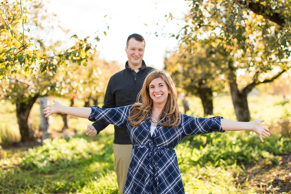 Fun engagement pictures in Hudson Valley, NY