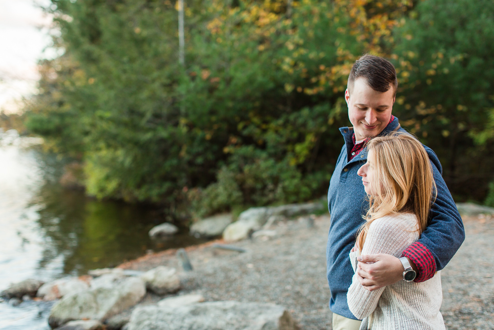 Engagement pictures at Lake Minnewaska in the Hudson Valley
