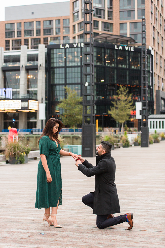 Surprise proposal at the DC Wharf on the pier