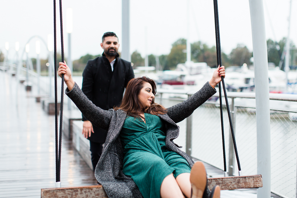 Swinging on the Recreation Pier at the DC Wharf