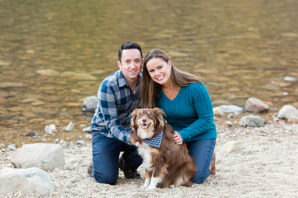 Whole family, dog included, smiling right at the camera | Colorado dog photographer