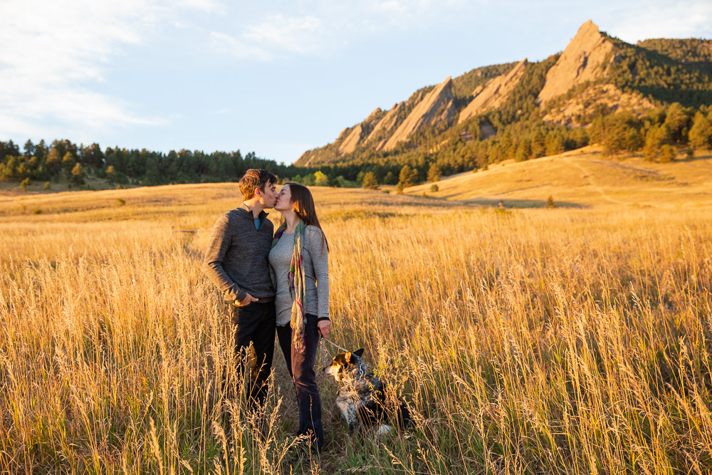 Sunrise engagement session at Chautauqua Park in Boulder, CO | Colorado Photographer