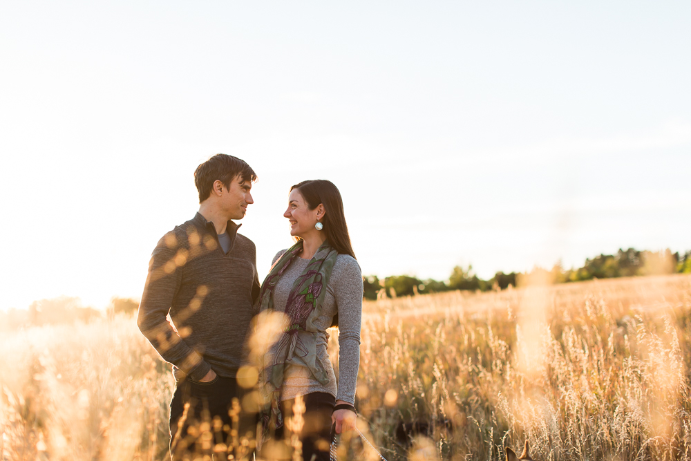 Golden hour sunrise photos at Chautauqua Park in Boulder, CO | Best Locations in Colorado for Engagement Photos
