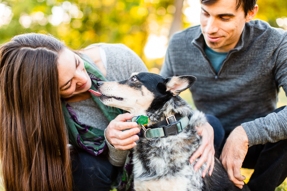 Documentary style photos of dog parents with their pup | Colorado Engagement Photographer | Megan Rei Photography