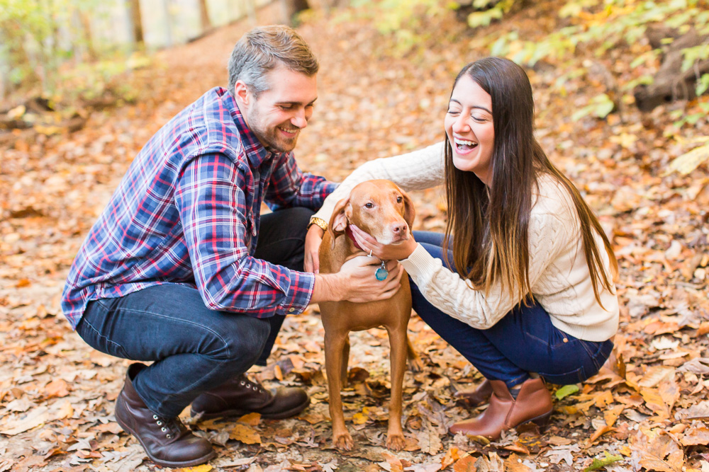 Dog-friendly hikes in Washington, DC at Rock Creek Park | Best DC engagement photography