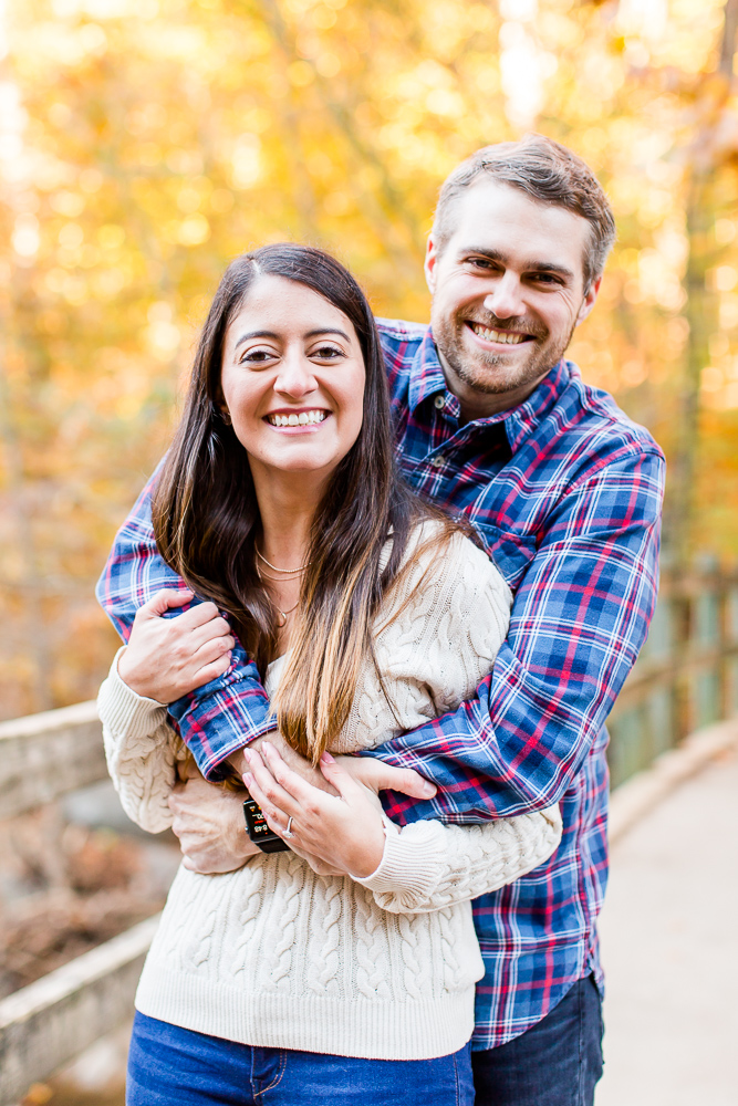 Favorite place for fall engagement photos in Washington, DC - Rock Creek Park