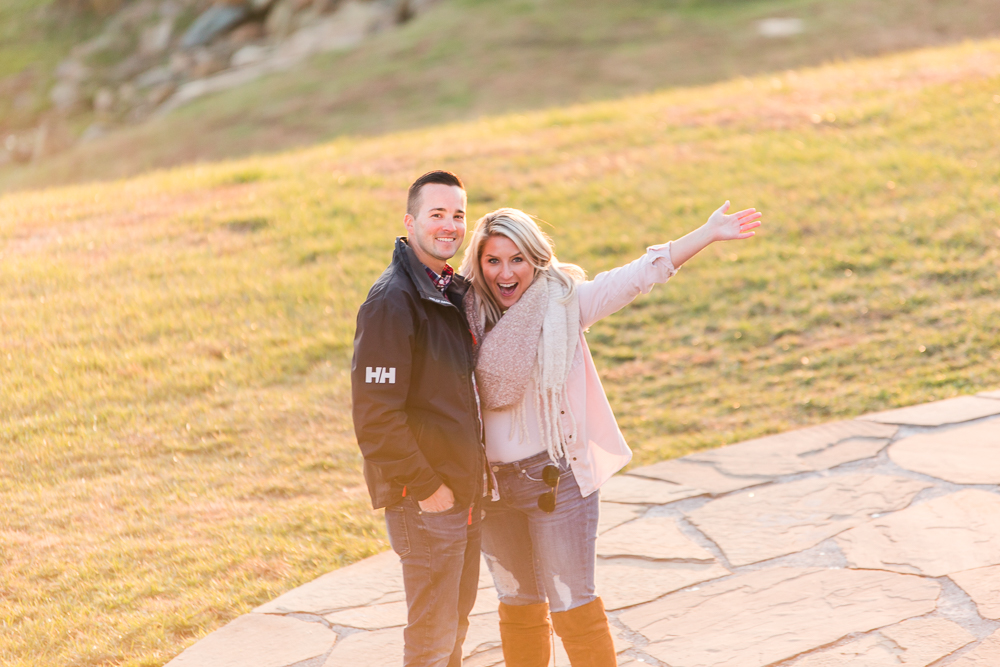 Celebrating after she said yes | Northern Virginia Proposal Photographer