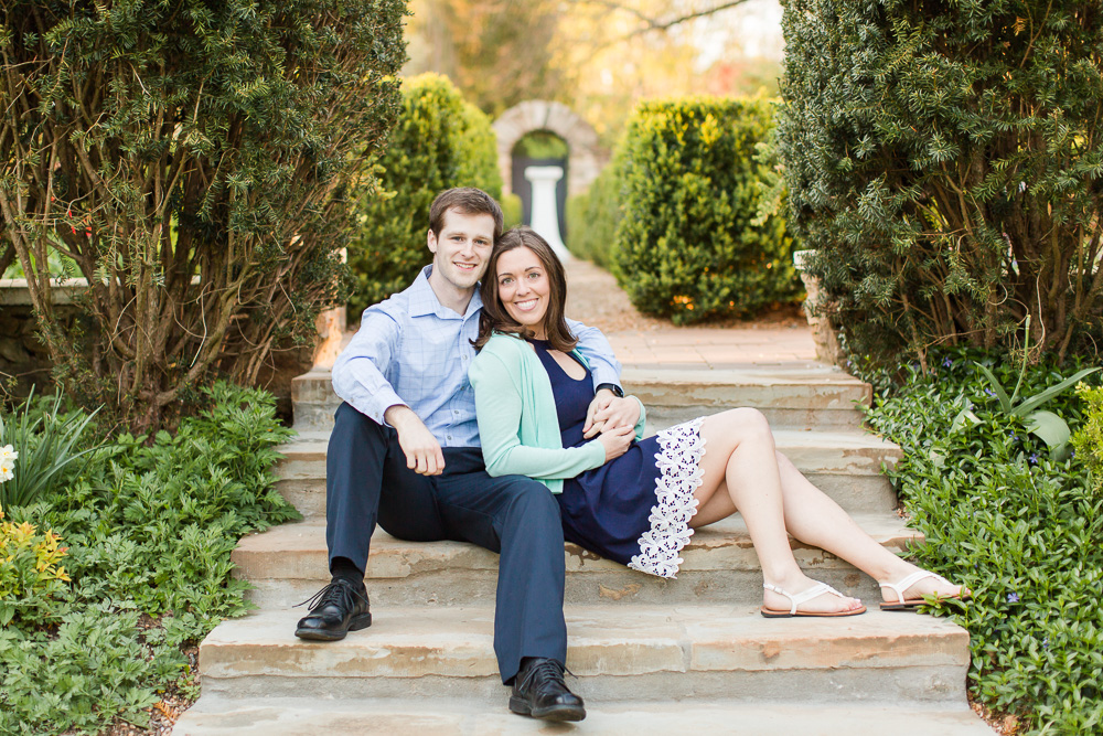 Summer engagement photos at Airlie gardens in Warrenton, Virginia | Warrenton, VA wedding photographer