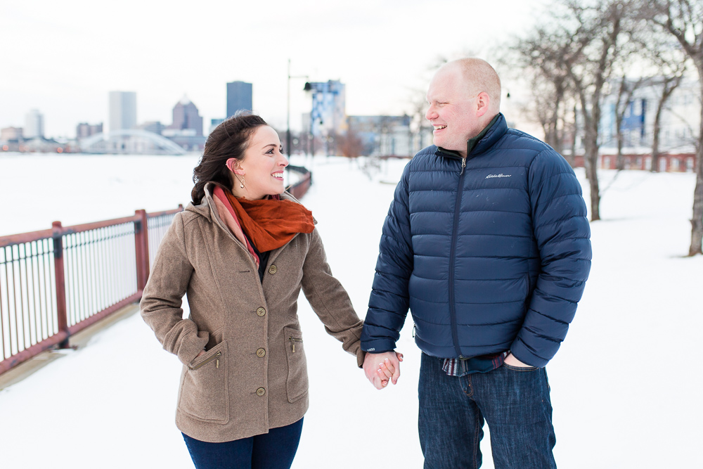A snowy South Wedge engagement shoot in Rochester, New York | Best Rochester photographers