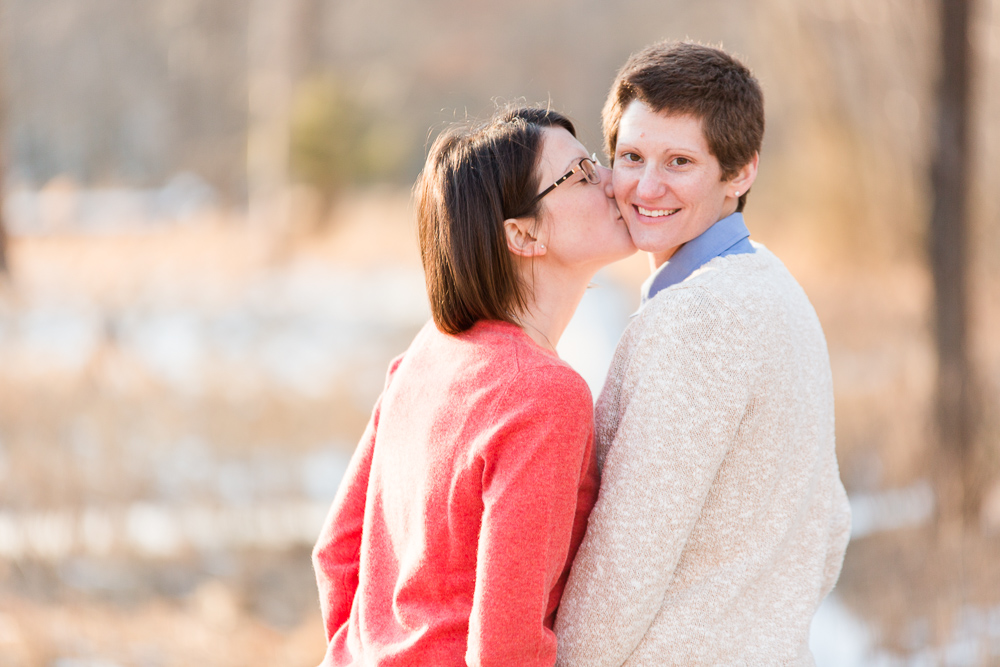 Lesbian couple engagement pictures at Manassas National Battlefield Park | Northern Virginia same-sex engagement photographer