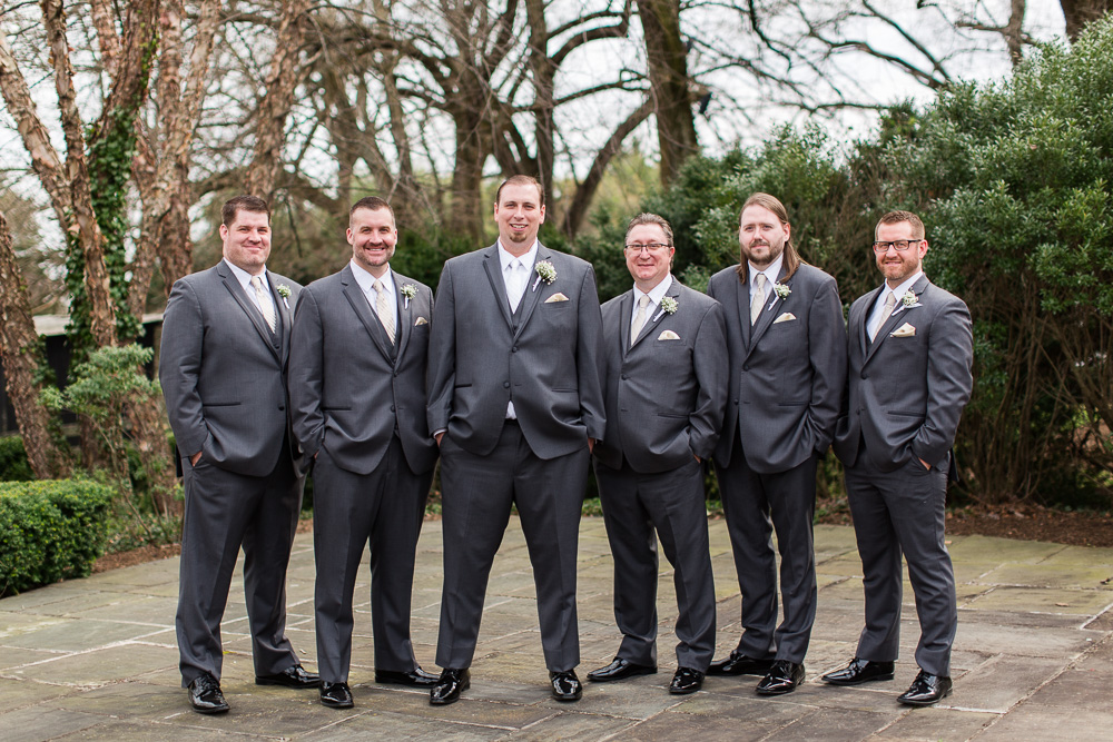 Groom and groomsmen at Black Horse Inn