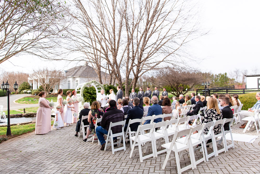 Wedding ceremony photos at Black Horse Inn in Warrenton, VA