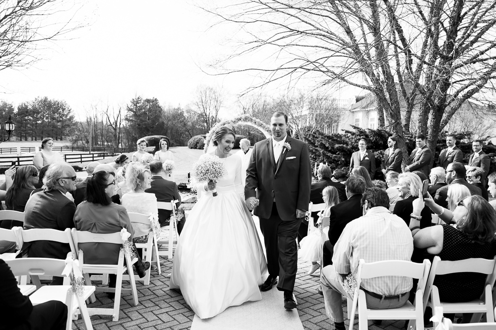Wedding recessional after the ceremony