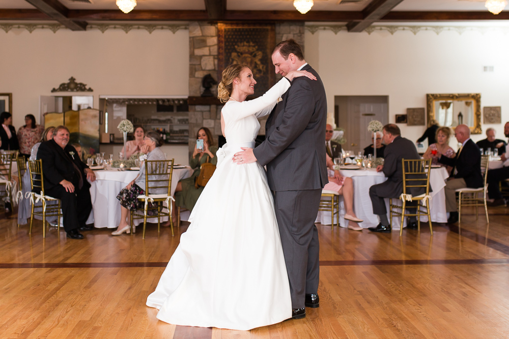 Bride and groom first dance at Black Horse Inn