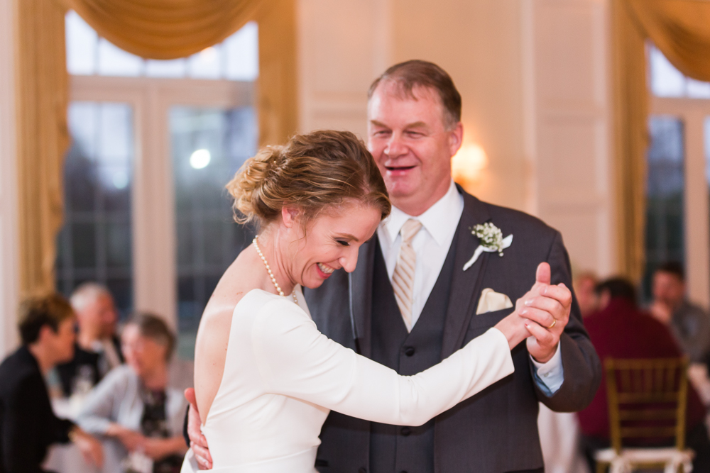 Father-daughter dance during wedding reception