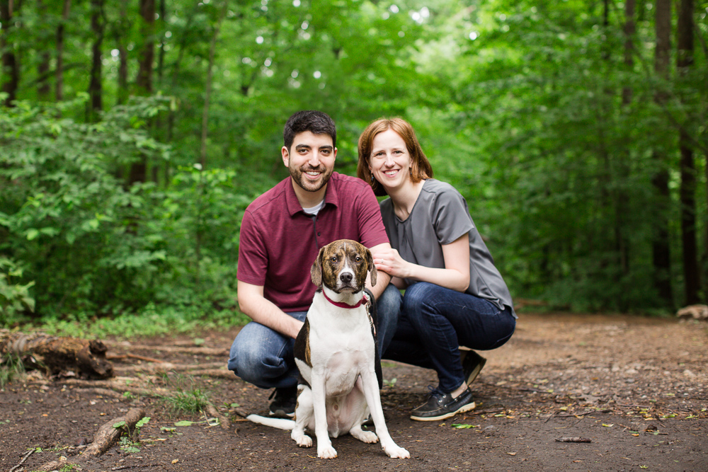 Choosing a dog-friendly location for your engagement pictures | Hiking dog engagement