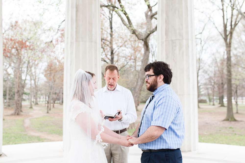 Spring wedding ceremony in Washington, DC