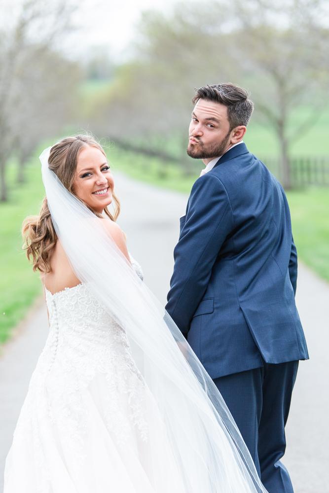Fun wedding photos as groom is goofing around | Chralottesville wedding photographer