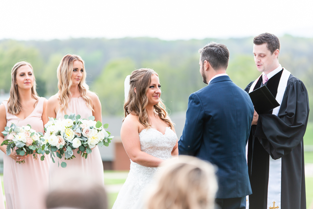 Candid wedding ceremony photos at the Lodge at Mount Ida Farm in Charlottesville