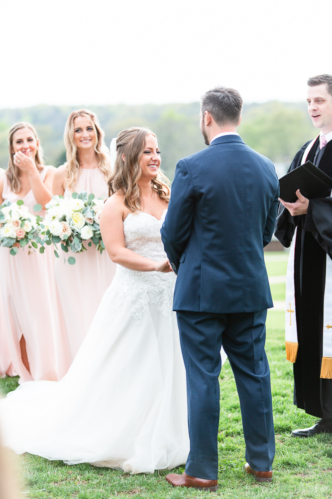 Charlottesville wedding ceremony overlooking the Blue Ridge Mountains