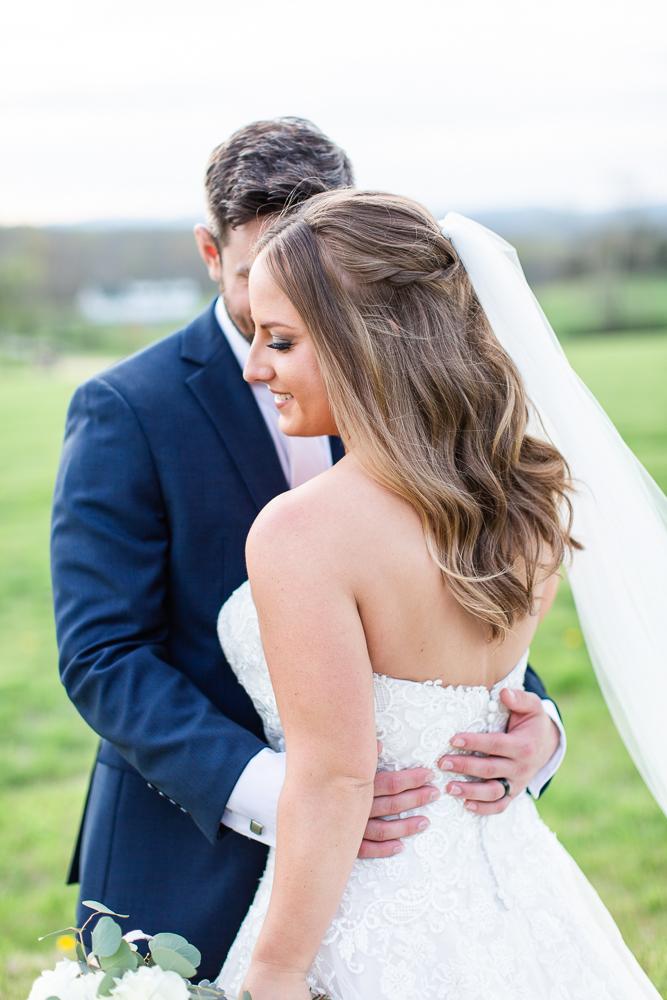 Romantic wedding photo in Charlottesville, Virginia