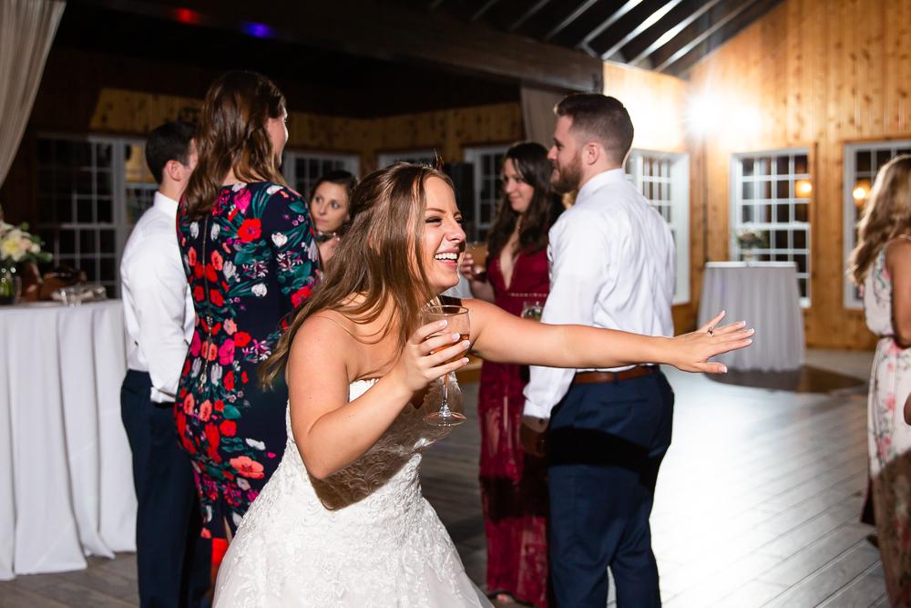 Bride having fun on the dance floor