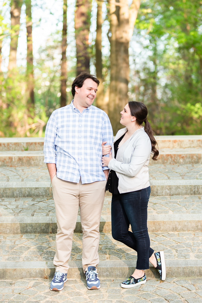 Washington, DC engagement photography at Roosevelt Island