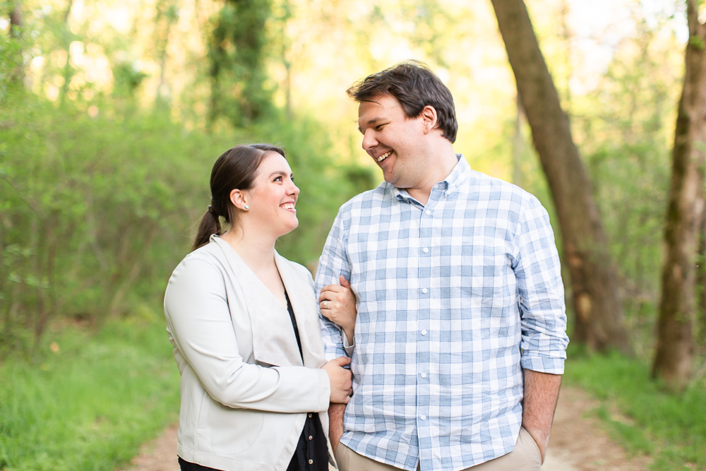 Roosevelt Island engagement pictures in Washington, DC
